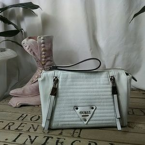 NWOT Guess White Leather Purse